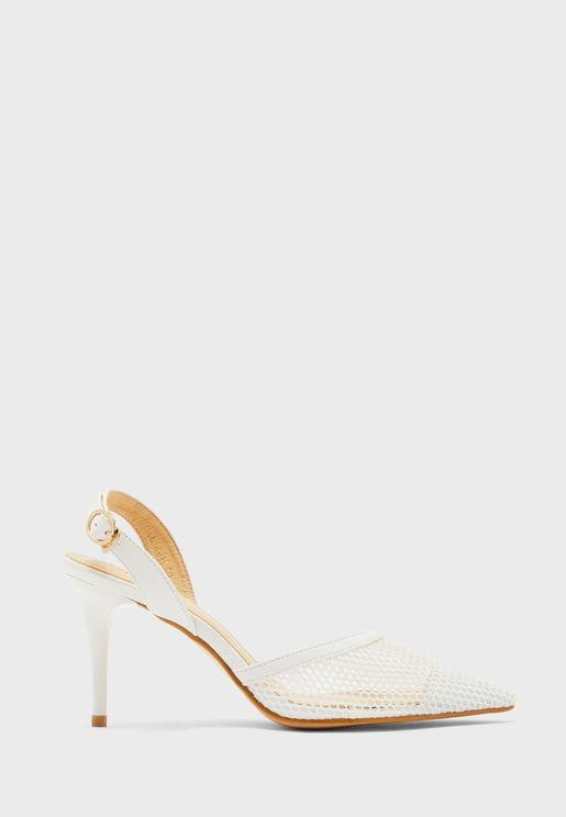 حذاء بسير كاحل وكعب مستدق