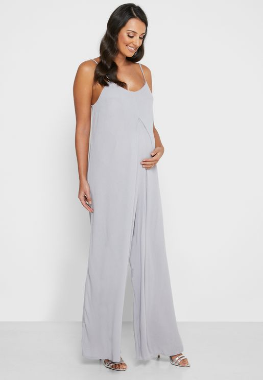 Cheesecloth Wide Leg Jumpsuit