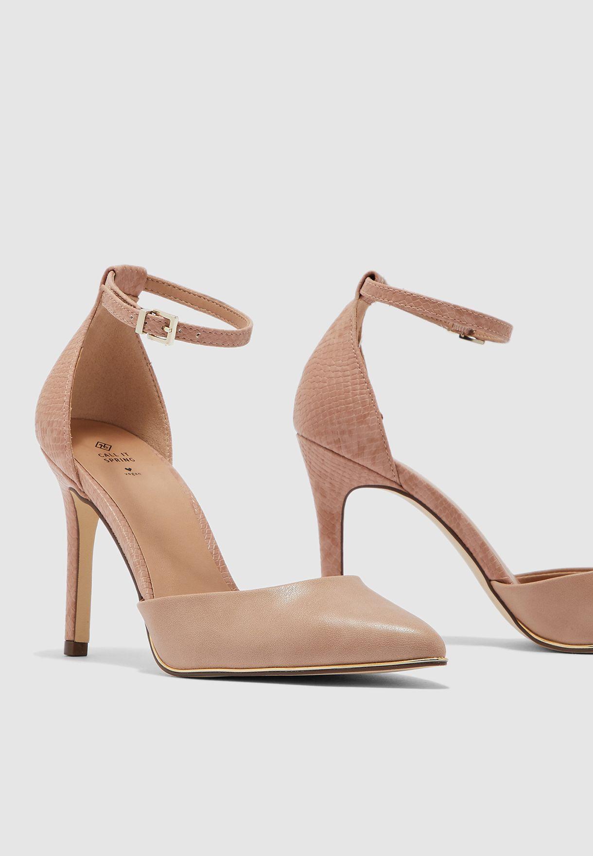 حذاء كعب عالي بسير كاحل