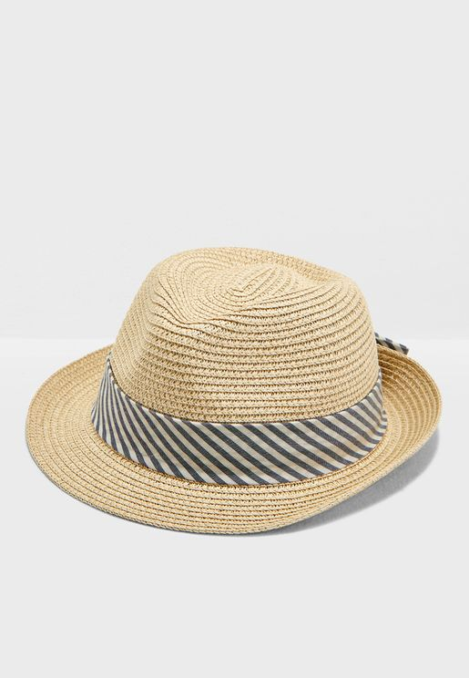 e16fba14db56d Barberry Striped Band Floppy Hat