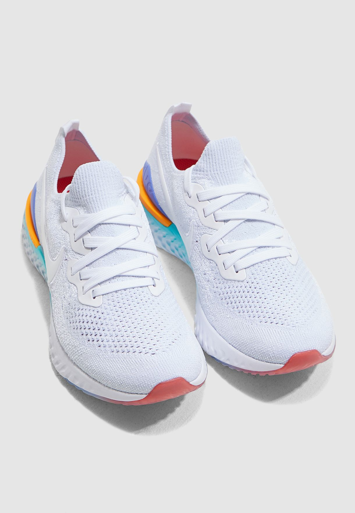 bdf4031e20eaa Shop Nike white Epic React Flyknit 2 BQ8927-104 for Women in Bahrain ...