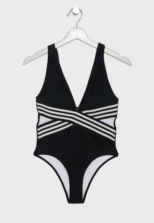 Crossover Cut Out Swimsuit