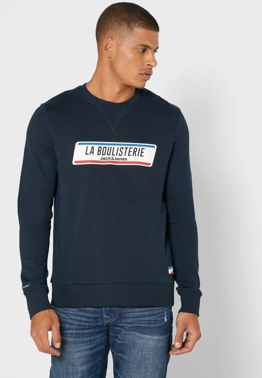 Text Print Sweatshirt