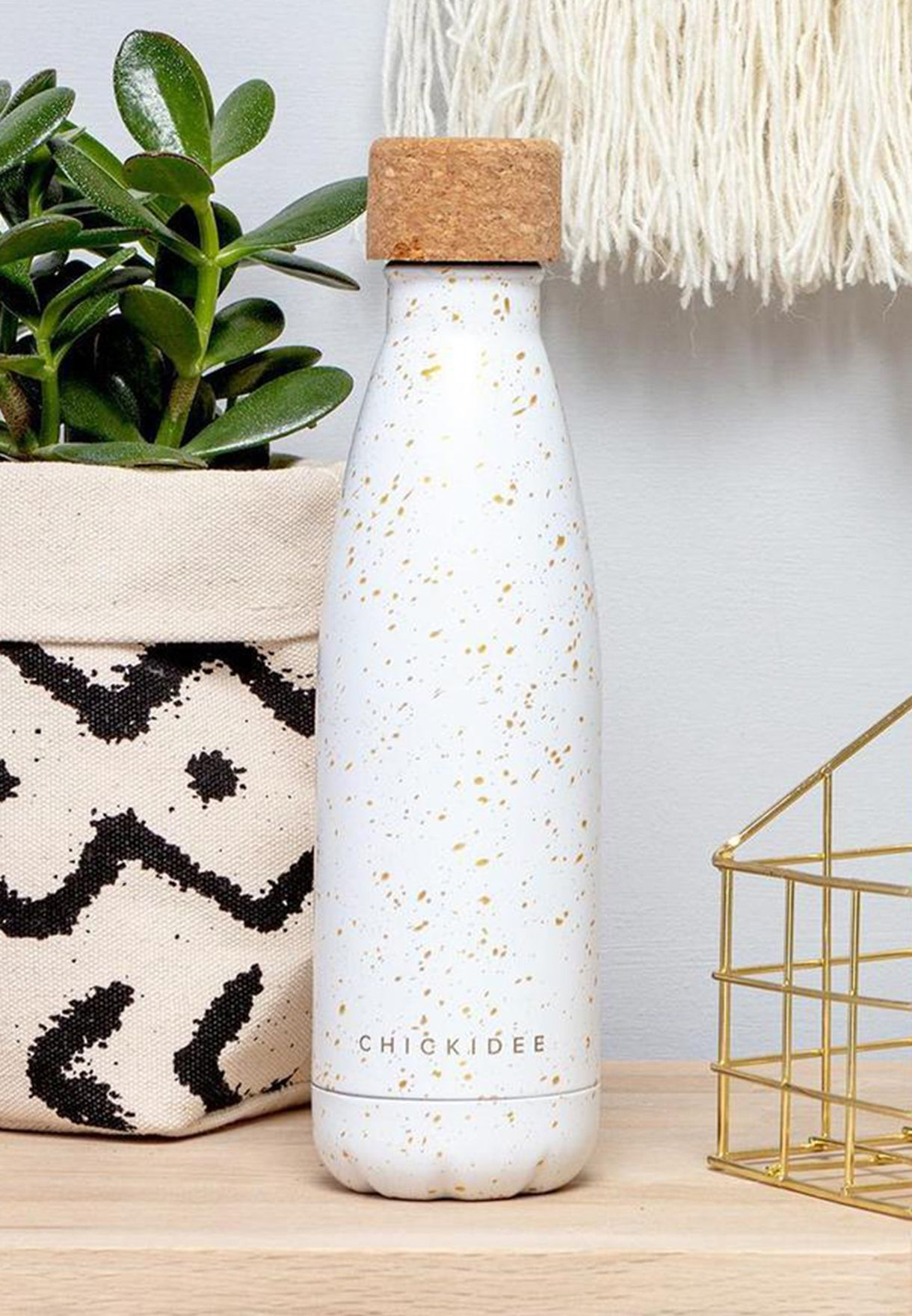 Gold Speckle Insulated Drinking Bottle