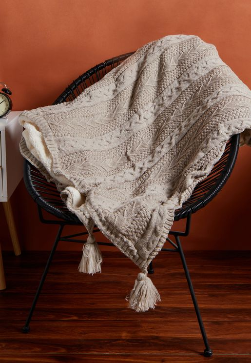 Knitted Fleece Blanket 150Cm X 200Cm