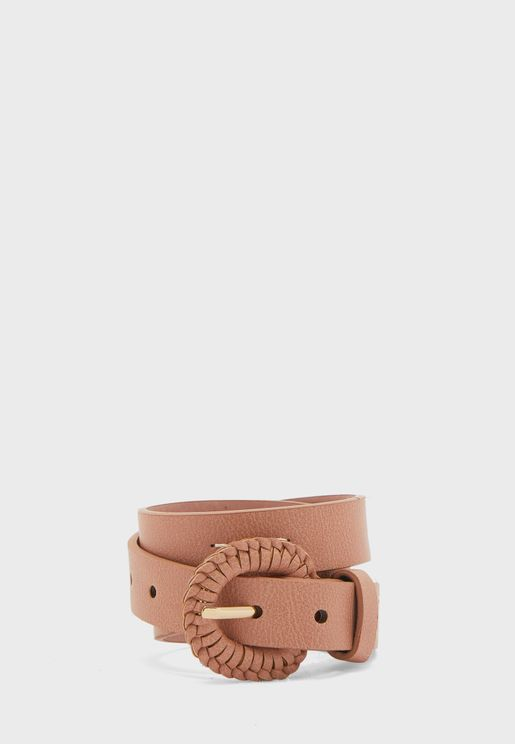 Kids Braided Buckle Belt
