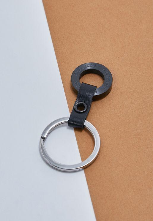 حلقة مفاتيح  مزينة بحلقتين
