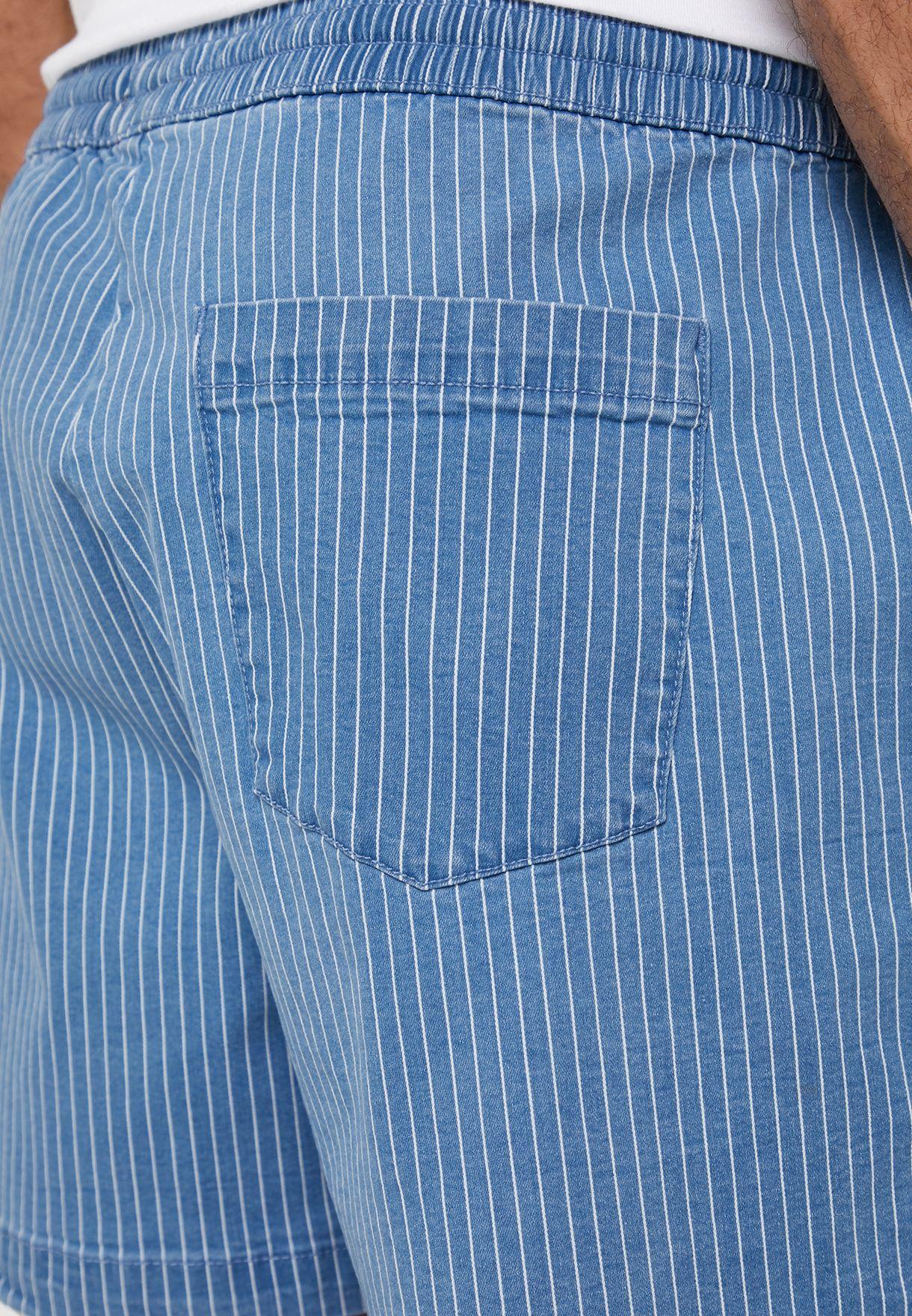 Stripes Drawstring Shorts