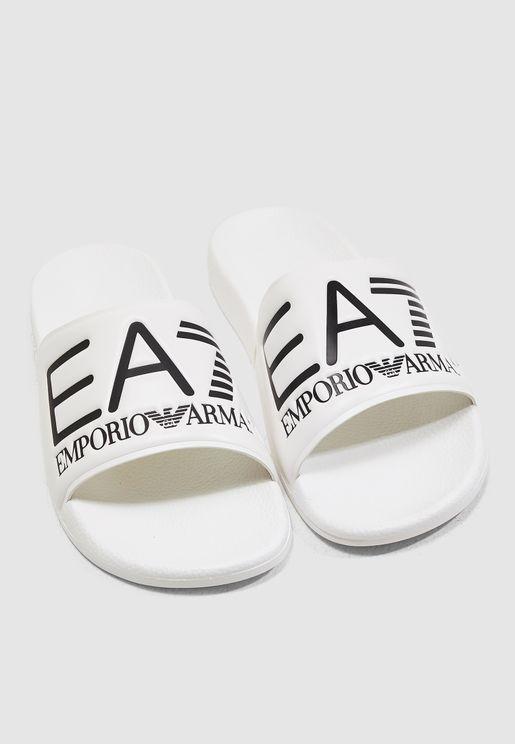 bc546051c Logo Slide Sandals. PREMIUM. EA7 Emporio Armani. Logo Slide Sandals