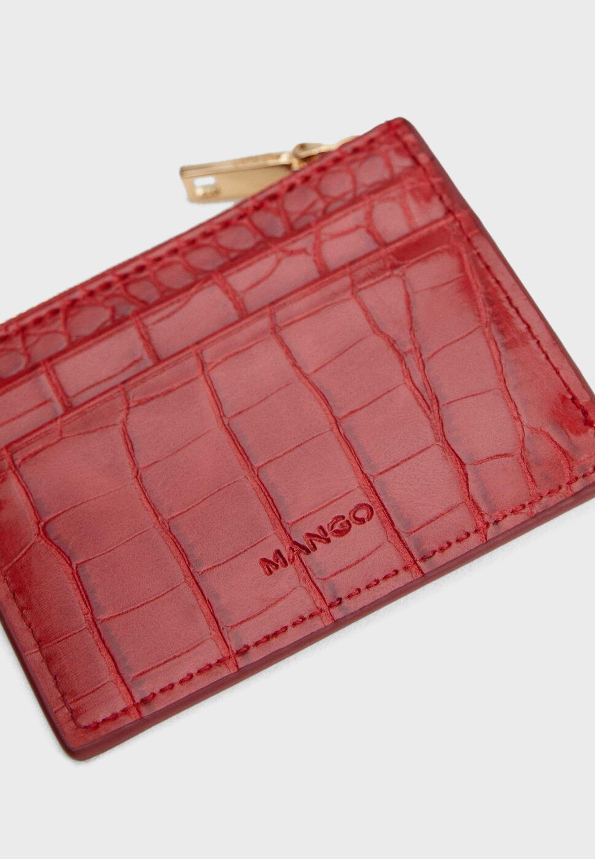 Malaga Croc-Effect Cardholder