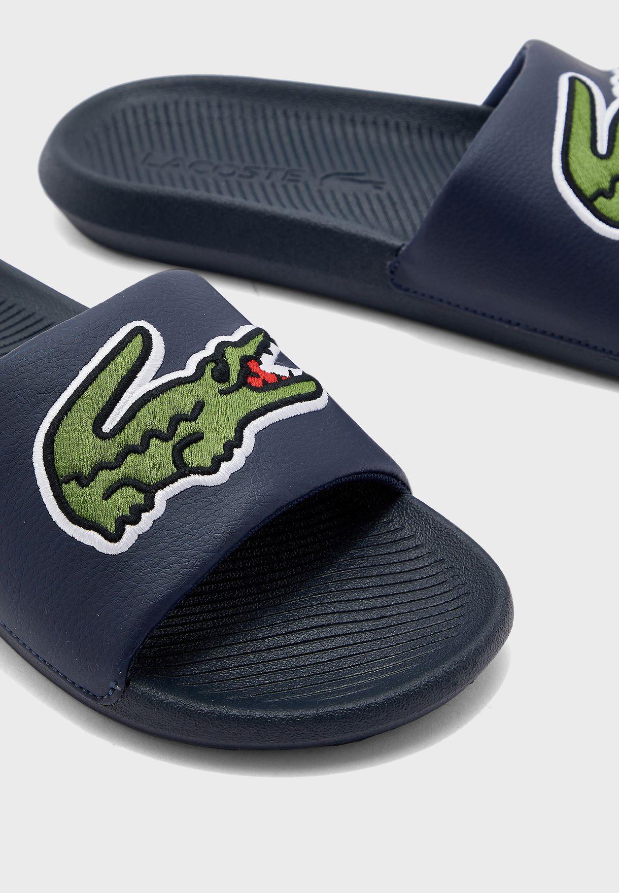 Croco Slide Flip Flop