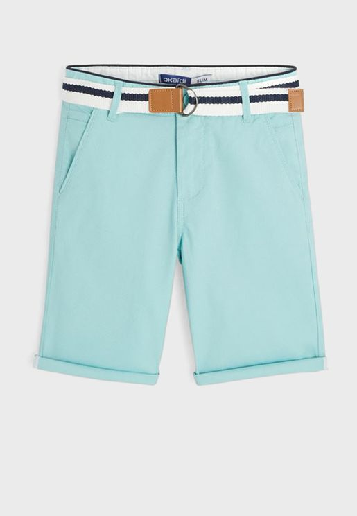Kids Casul Shorts With Belt