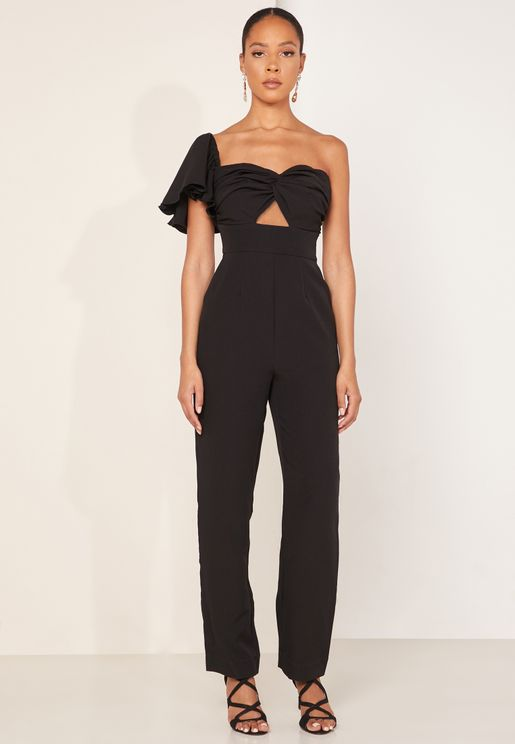 Delight One Shoulder Cut Out Jumpsuit