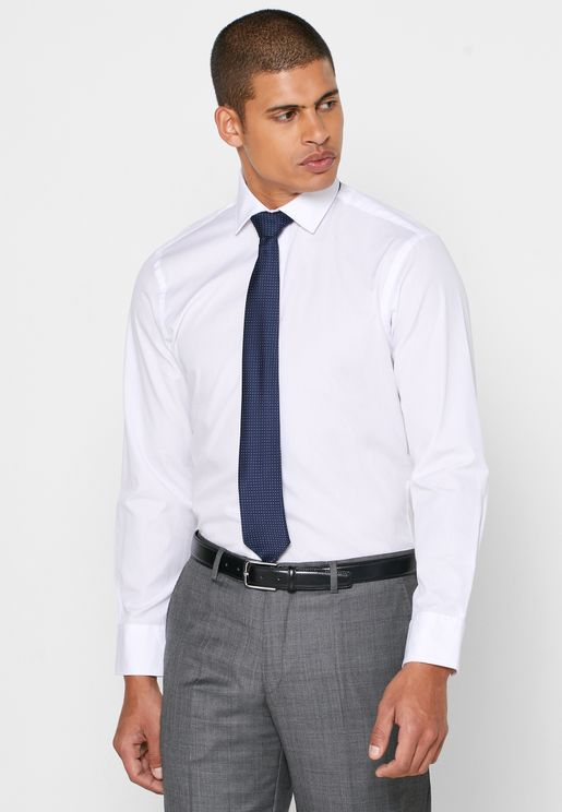 Button Cuff Slim Fit Shirt