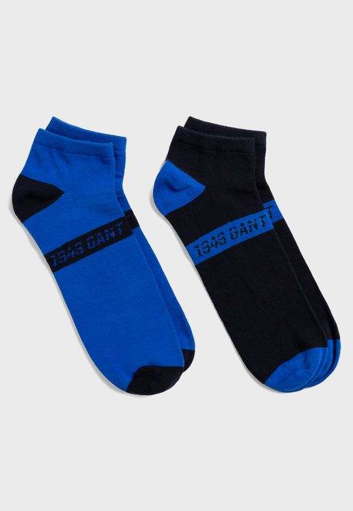 2 Pack Assorted Ankle Socks