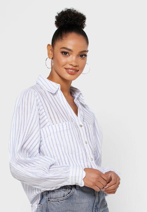 Striped Button Down Shirt
