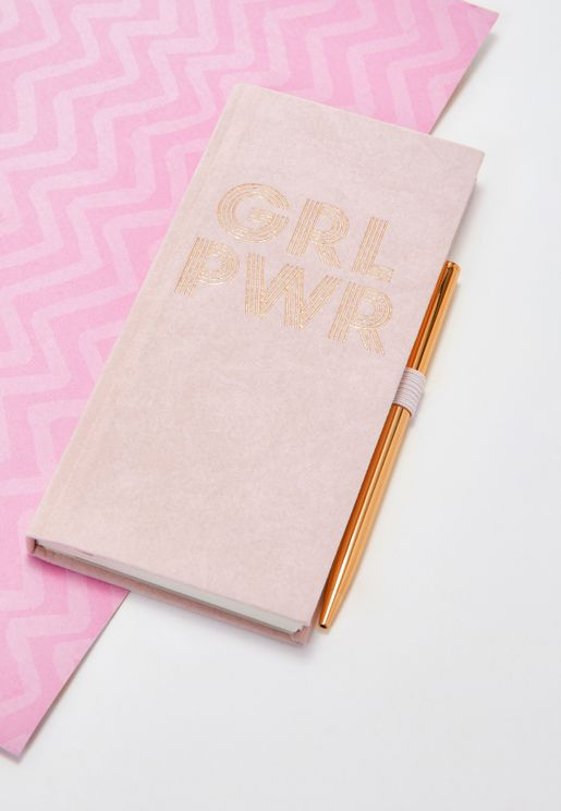 Girl Power Journal With Pen