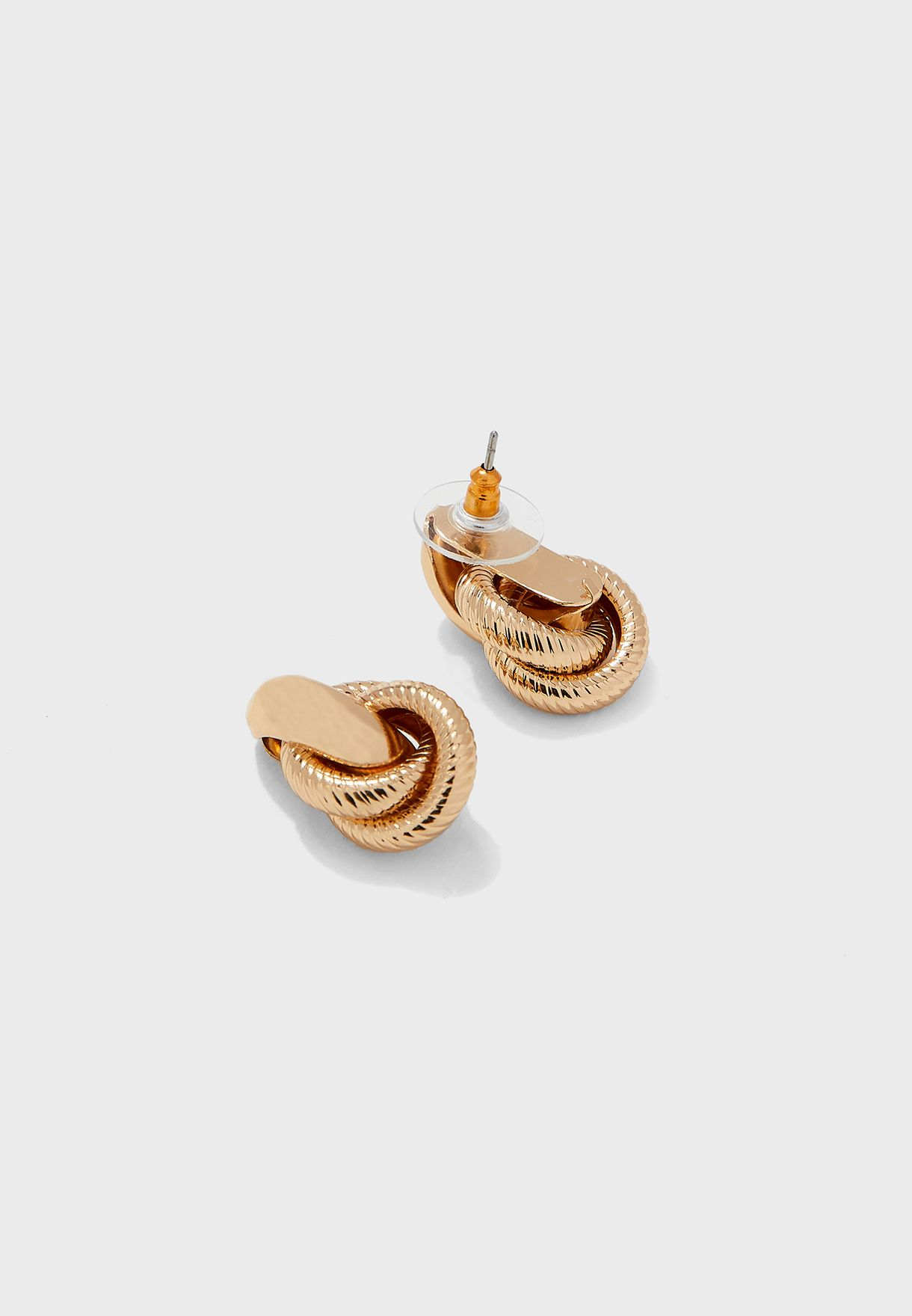 Twisted Textured Stud Earrings