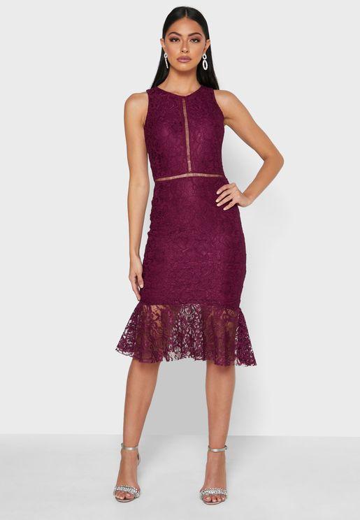 Ladder Lace Detail Dress
