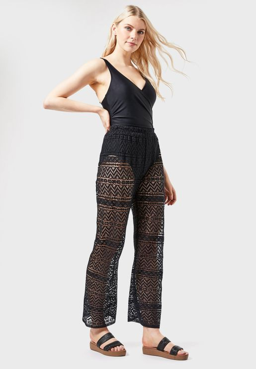 Crochet High Waist Pants