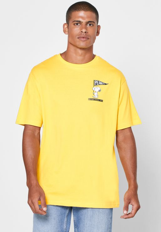 Snoopy Crew Neck T-Shirt