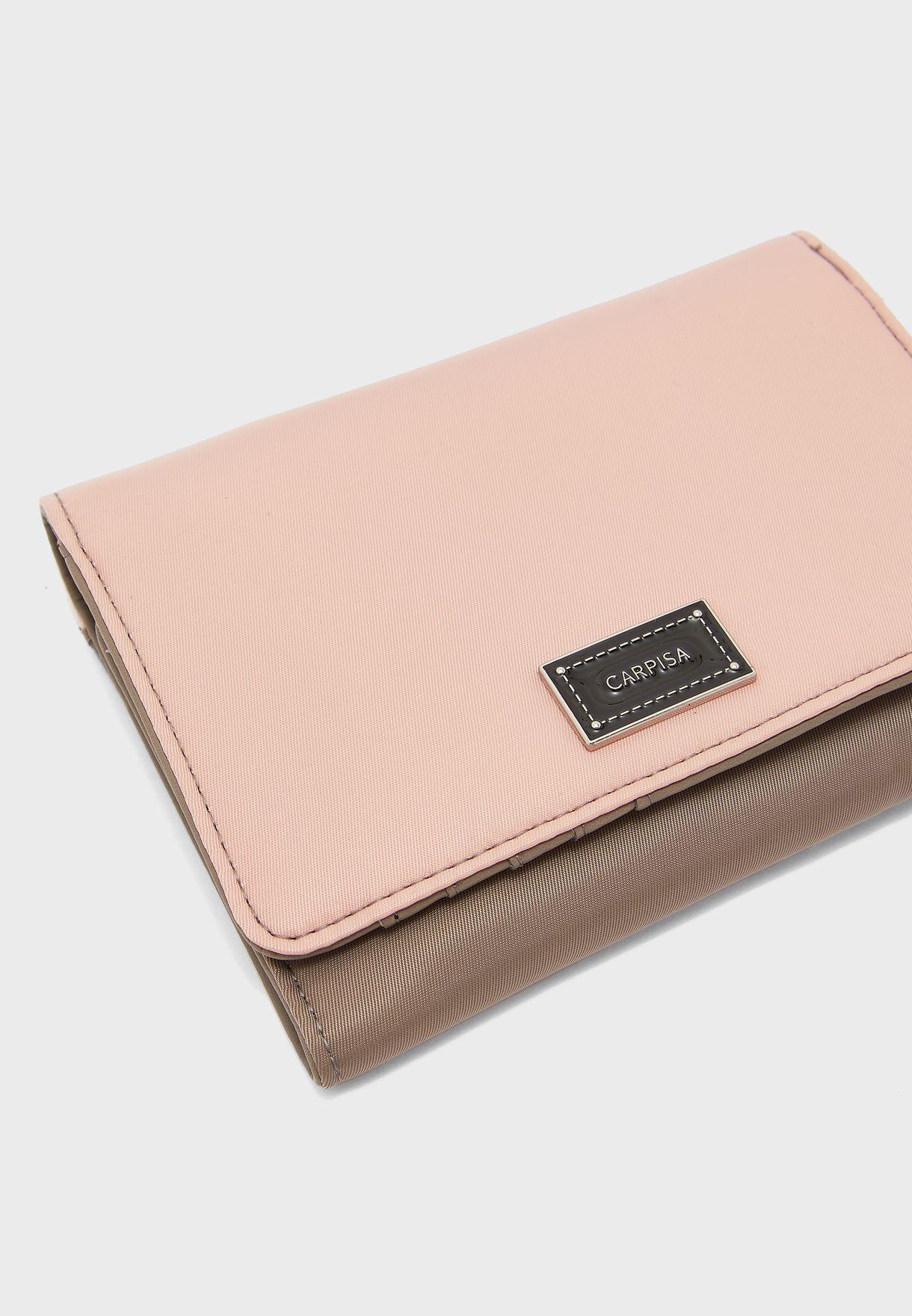 محفظة ملونة بطيتين