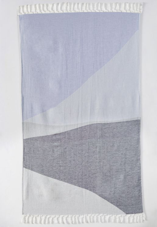 Color Block Beach Towel