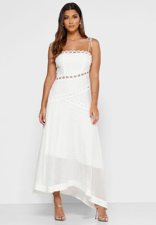 New Look Asymmetric Square Neck Dress