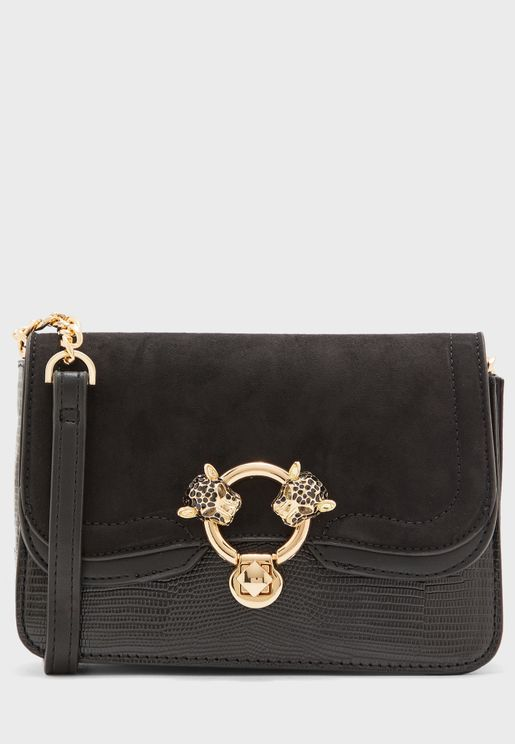 Double Panther Detailed Crossbody