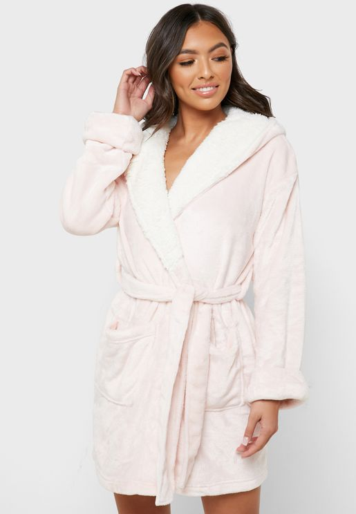 Tie Waist Pocket Detail Robe