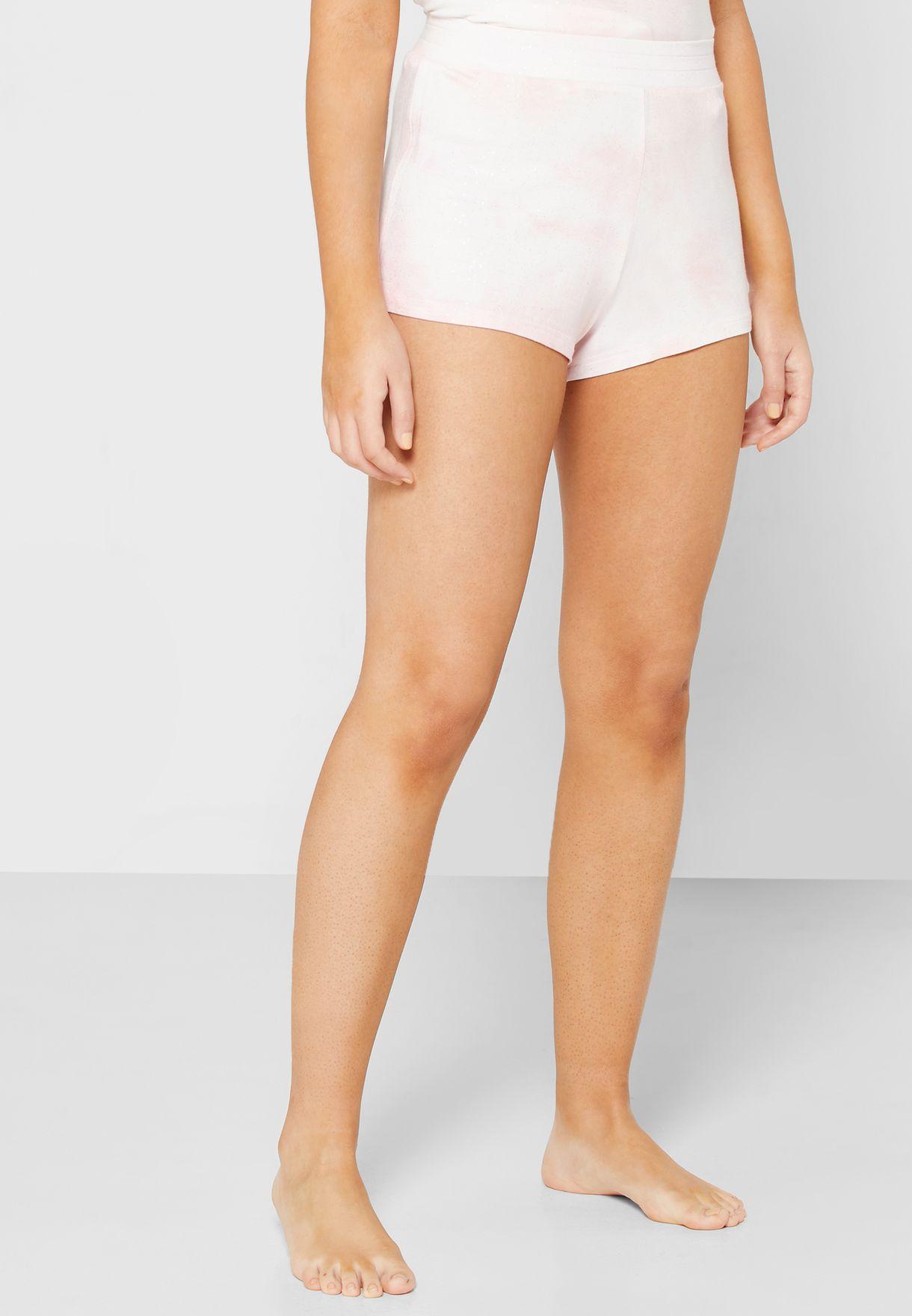 Tie Dye Glitter T-Shirt & Shorts Set