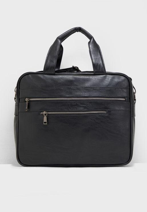 Textured Laptop Bag