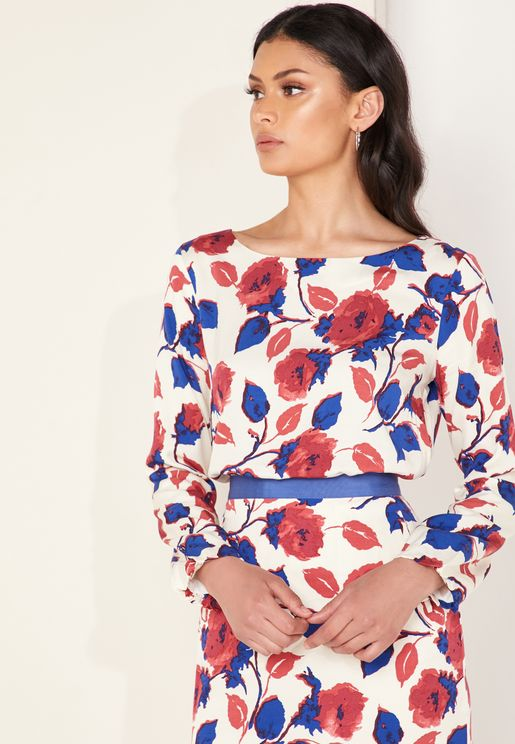 Daywear Rose Print Top