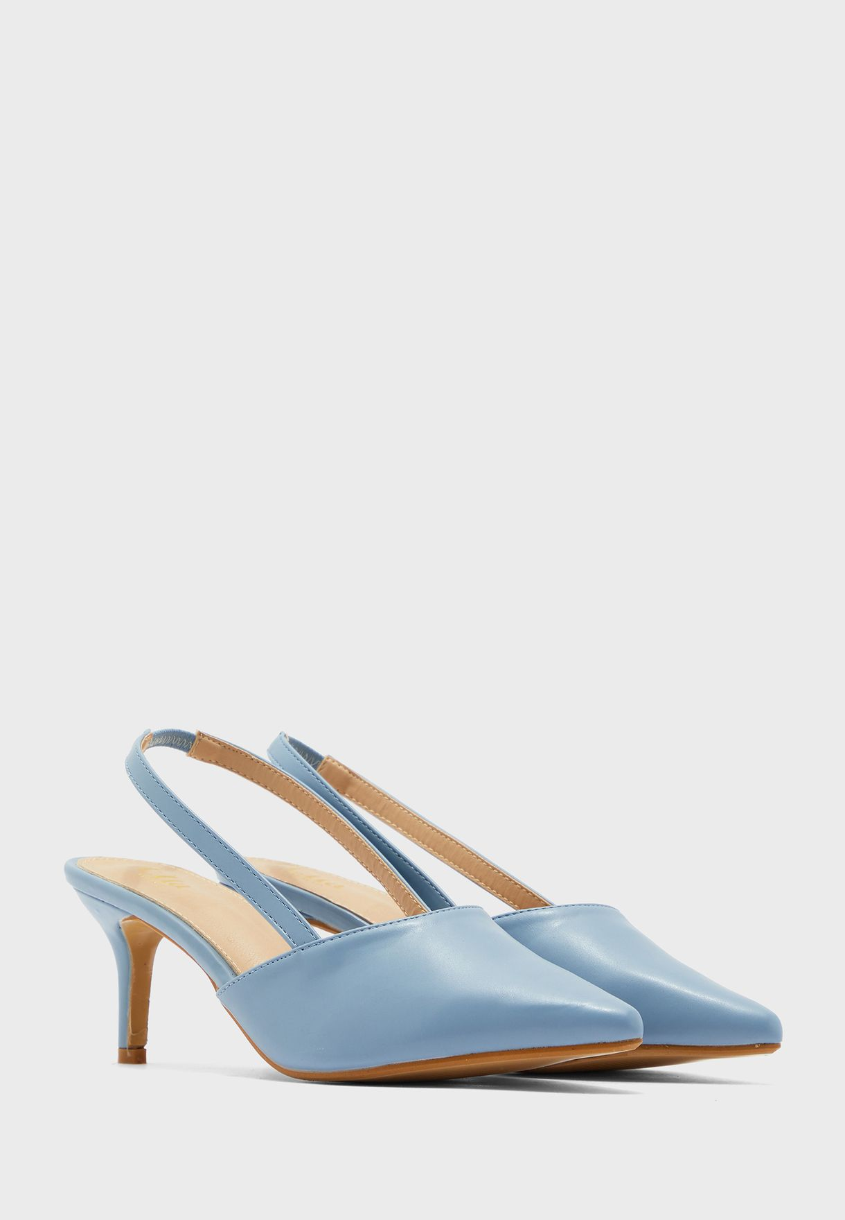 Pointed Mid Strap Slingback Stiletto