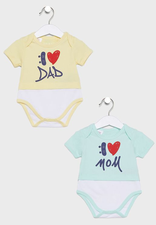 Infant Pack of 2 Bodysuits