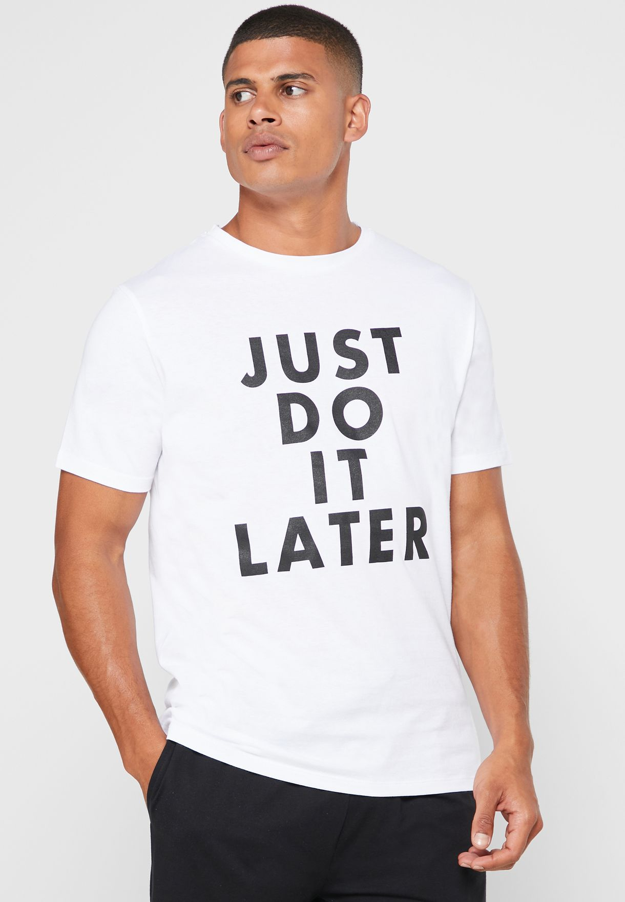Just Do It Later T-Shirt & Short Pyjama Set