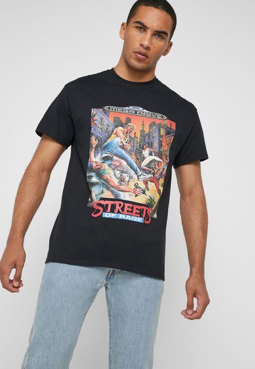 Streets Of Rage Graphic Crew Neck T-Shirt