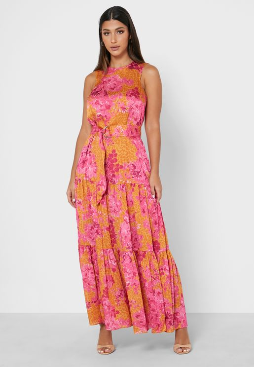 Bambia Tiered Relaxed Maxi Dress