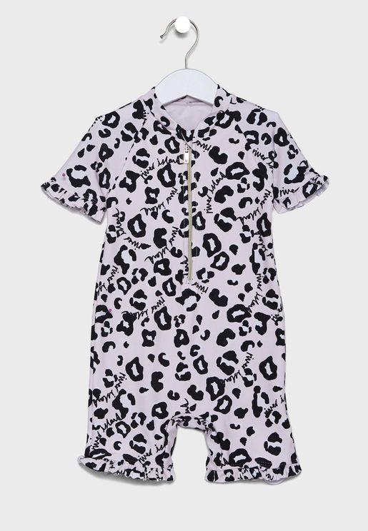 Kids Leopard Print Swimsuit