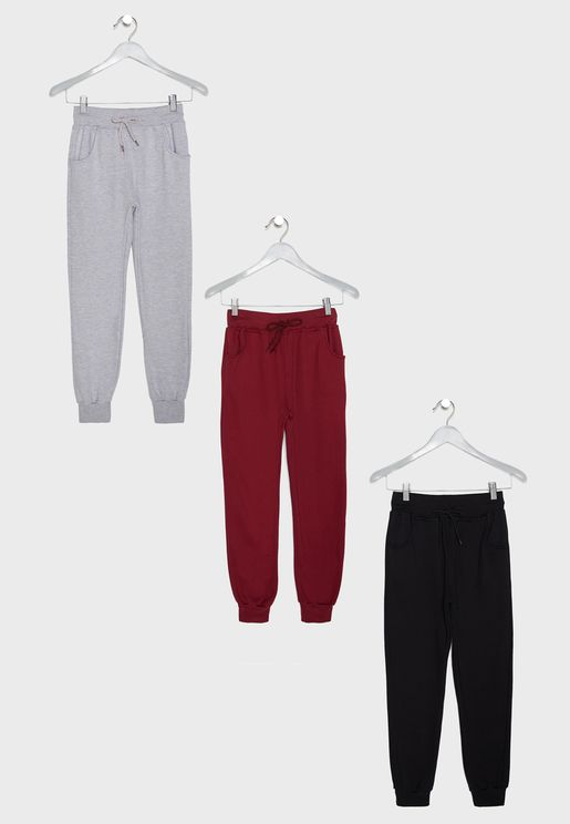 3 Pack Cuffed Sweatpants