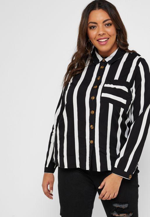 Striped Button Through Shirt