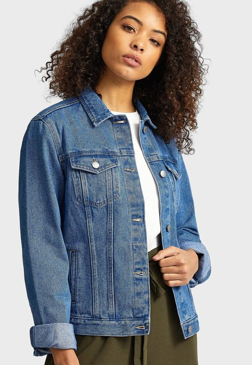 Pocket Detail Denim Jacket