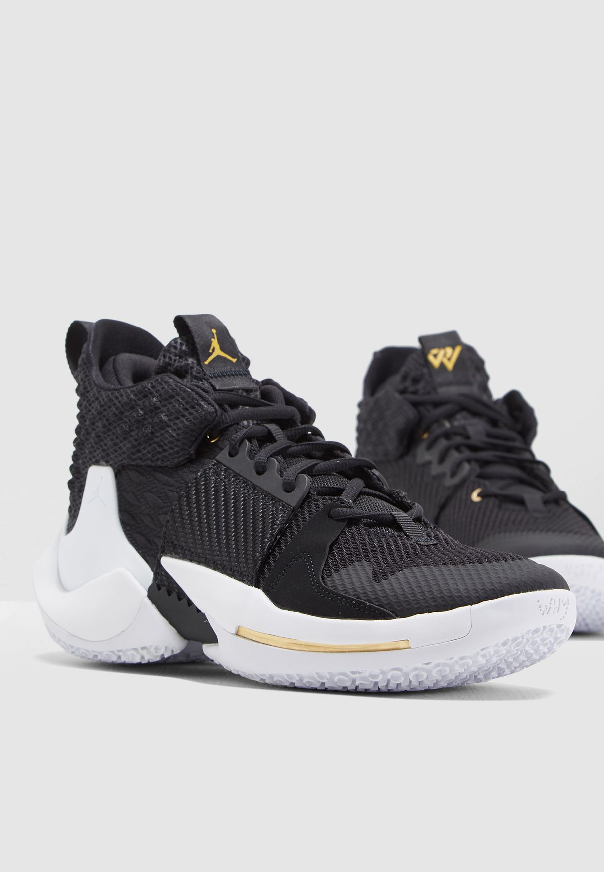 the latest b20ed 3b58e Shop Nike black Jordan Why Not Zero.2 AO6219-001 for Men in UAE -  72704SH79ENP