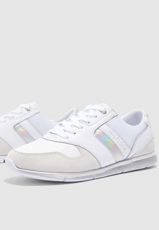 Iridescent Light Sneaker - White
