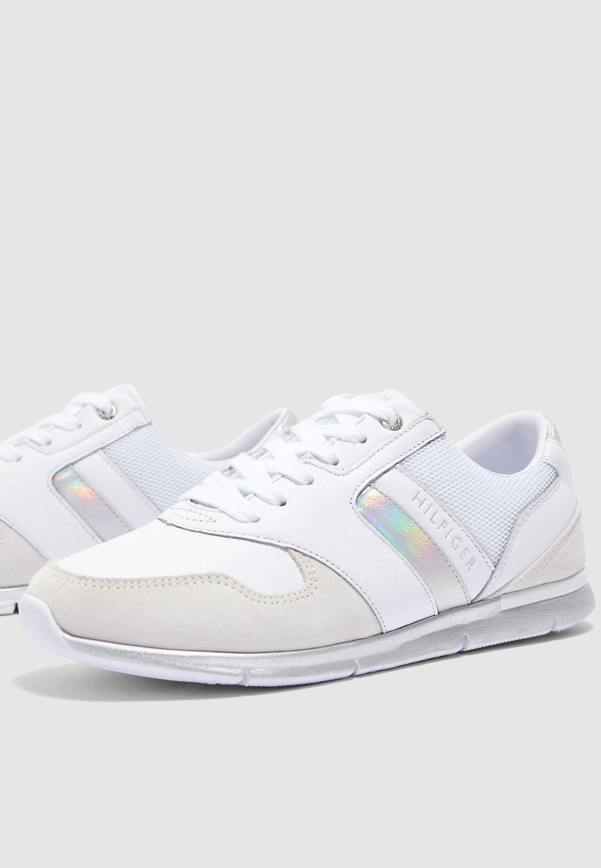 Iridescent Light Sneaker - White