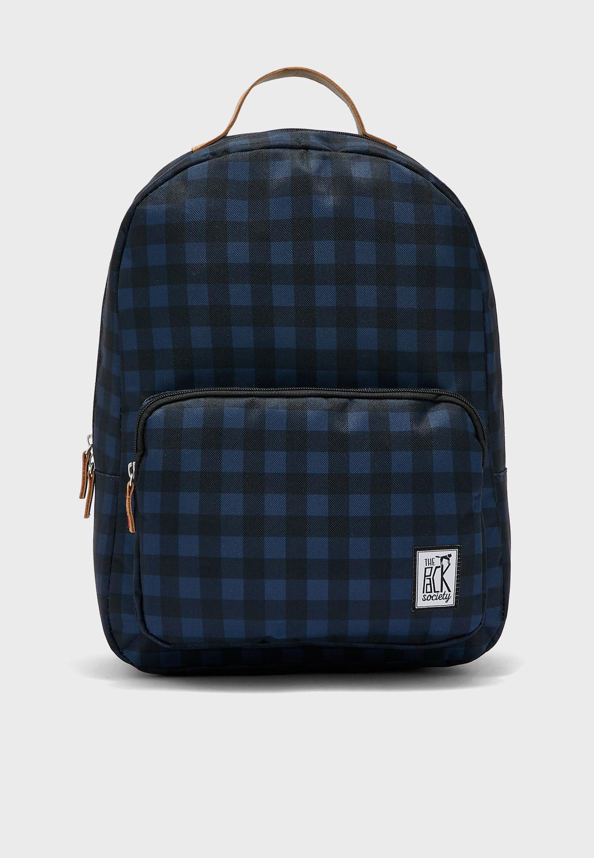Check Print Classic Backpack