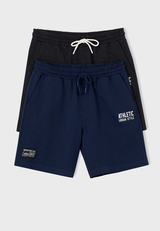 2 Pack Essential Shorts