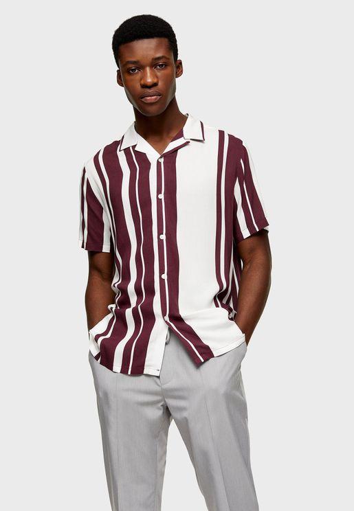 Block Stripe Slim Fit Shirt