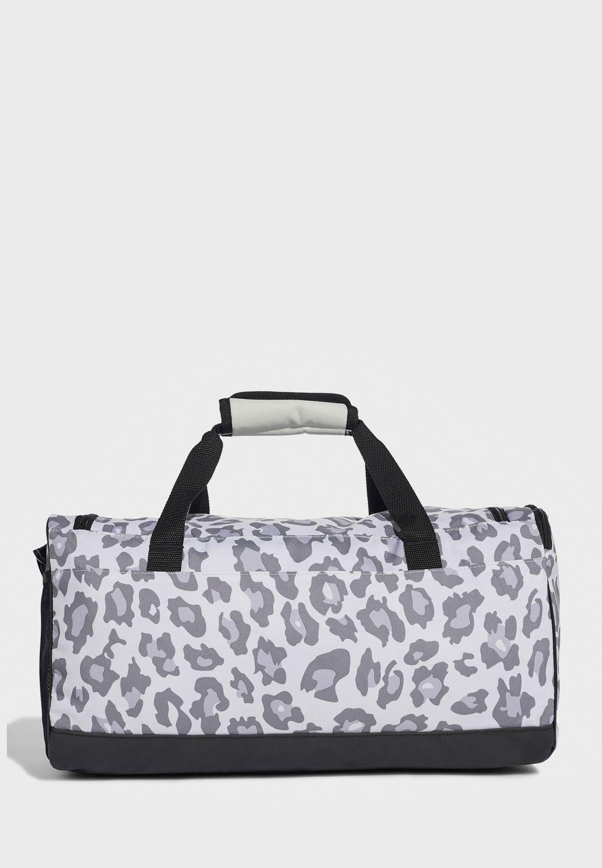 Small Linear Leopard Print Duffel