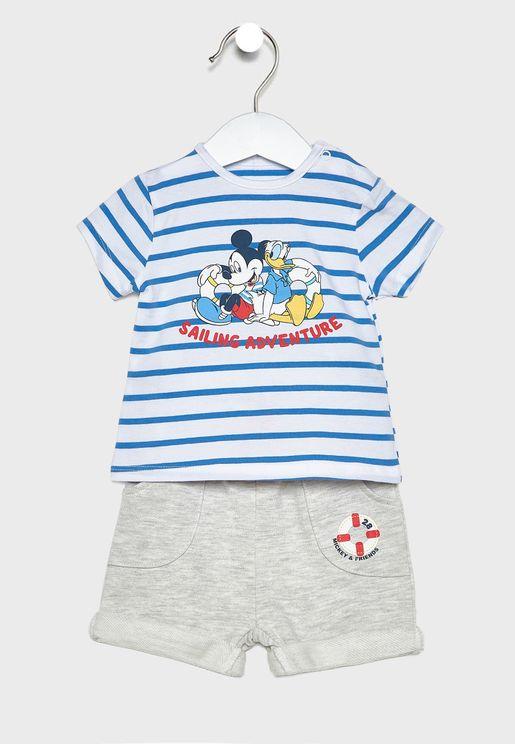 Kids Disney Top + Printed Pyjama Set